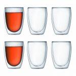 Bodum Pavina 6er Set doppelwandig Gläser 350ml für heiße Getränke