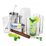 Mojito Cocktail Set 11-teilig mit Shaker und Ice-Crusher