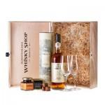 Oban 14 Whisky Premium-Set – Geschenkidee Schokoladen-Trüffel und Gläsern