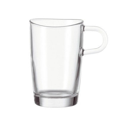 LEONARDO-086576-6er-Set-Latte-Macchiato-Becher-Loop-Glas-Becher