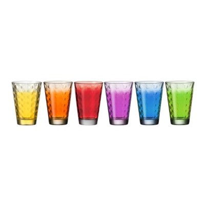 Leonardo-35247-Becher-6er-Set-gross-Optic-bunte-Glaeser