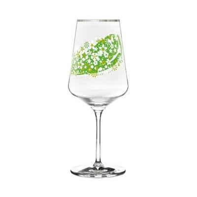 Ritzenhoff-2930003-Hugo-Designer-Glas-mit-Motiv-gruen-H12