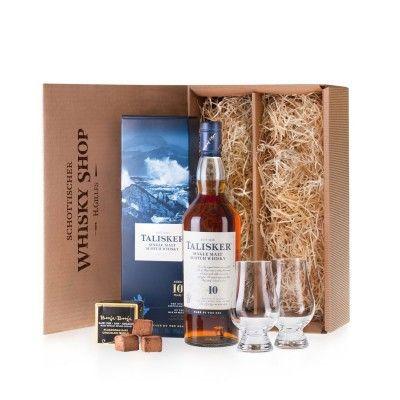 Talisker-10-Whisky-Geniesser-Set-Geschenkidee-mit-Nosing-Glaeser-und-Schokolade
