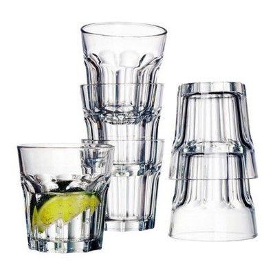 guenstige-IKEA-Cocktail-Glaeser-Pokal-Glas-fuerr-kalte-oder-heisse-Getraenke-150ml-8cm-hoch-6er-Set
