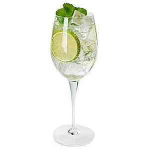 Limette Cocktail Hugo Glas